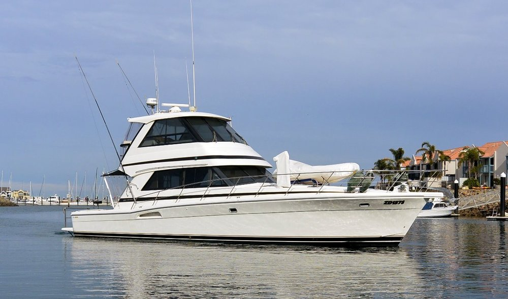 48 Riviera Yachts Enclosed Bridge For Sale by Kusler Yachts