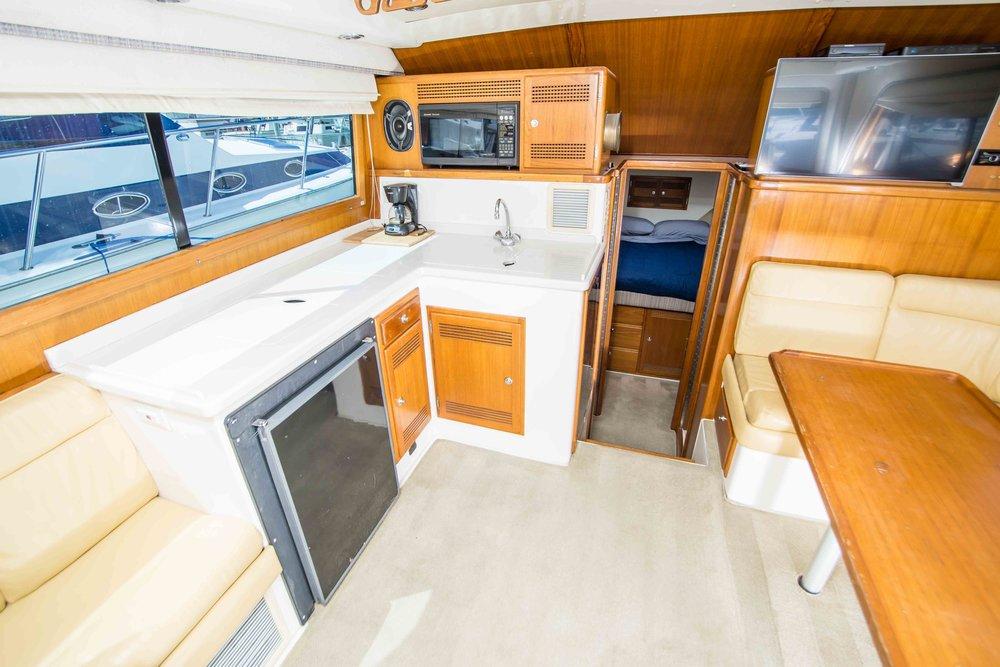 "Salon View Cabo Yachts 35 Flybridge ""PURA VIDA"""