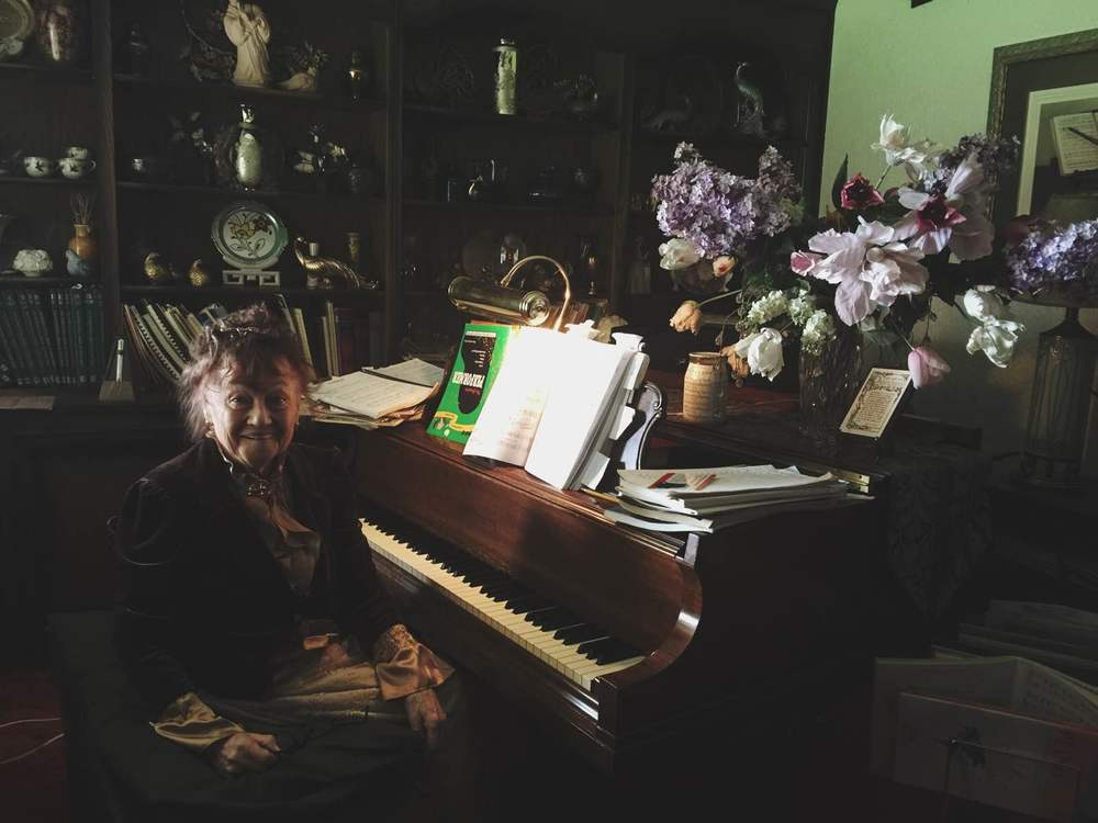 People At Home: Meet Sylvia! Eccentric, widow, Quebec native, piano extraordinaire!