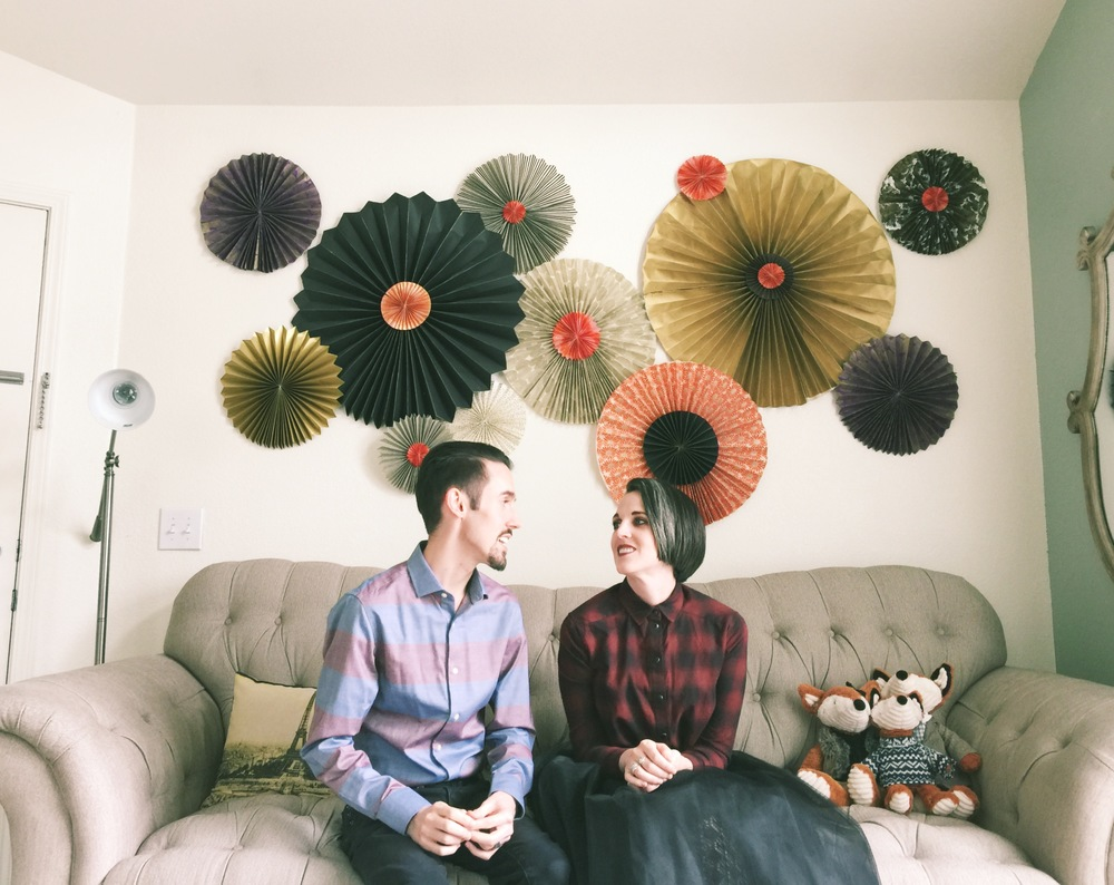 J + K // Jane & Kody. Fun, happy, smart, unique and creative. They know how to make a home, even in a tiny apartment.