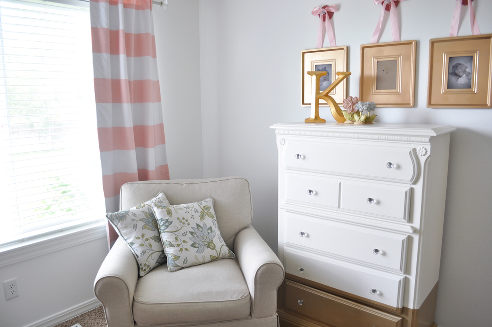 People At Home: Kate's Nursery. After having 3 boys, a feminine and elegant nursery was just what the doctor ordered!