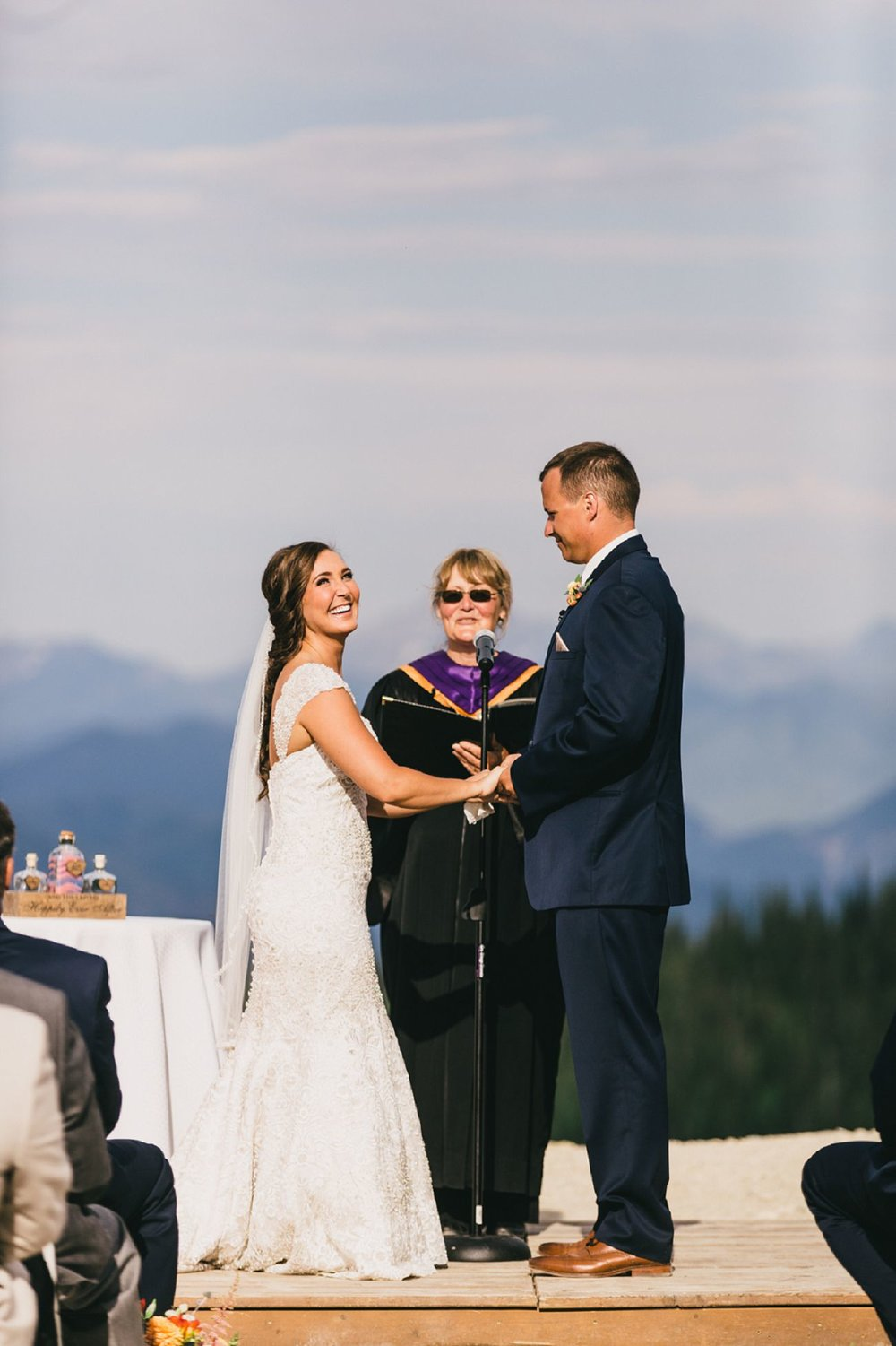 a romantic wedding at whitefish mountain resort | logan & kelsey