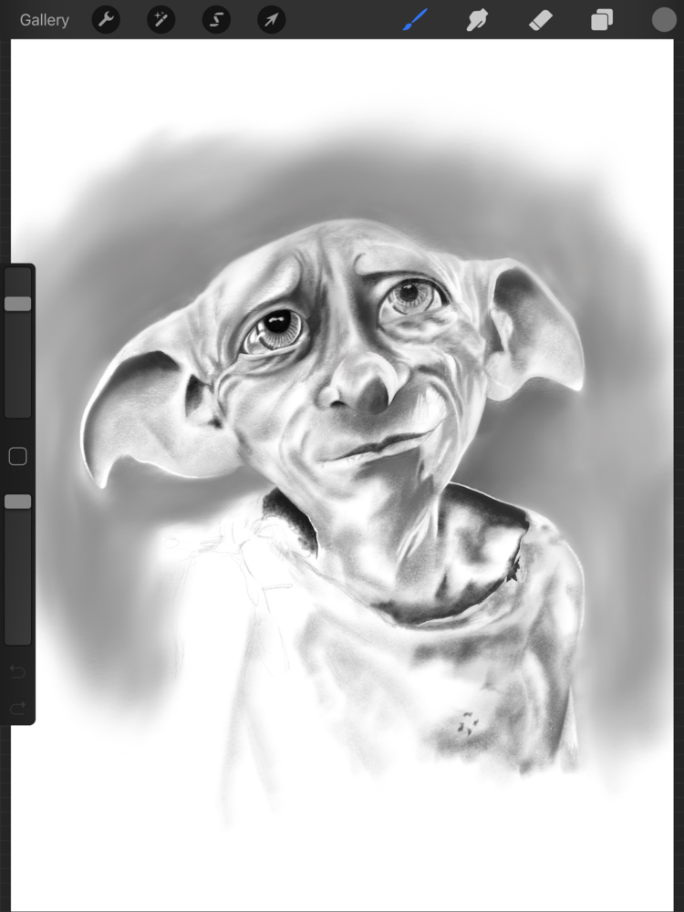 Drawing Journey Of Progress Dobby Harry Potter