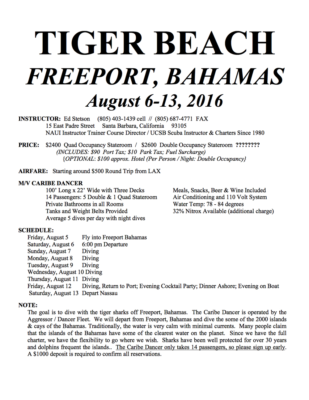 bahamas 2016