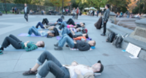 Guided Lie Down in Washington Square Park, NYC