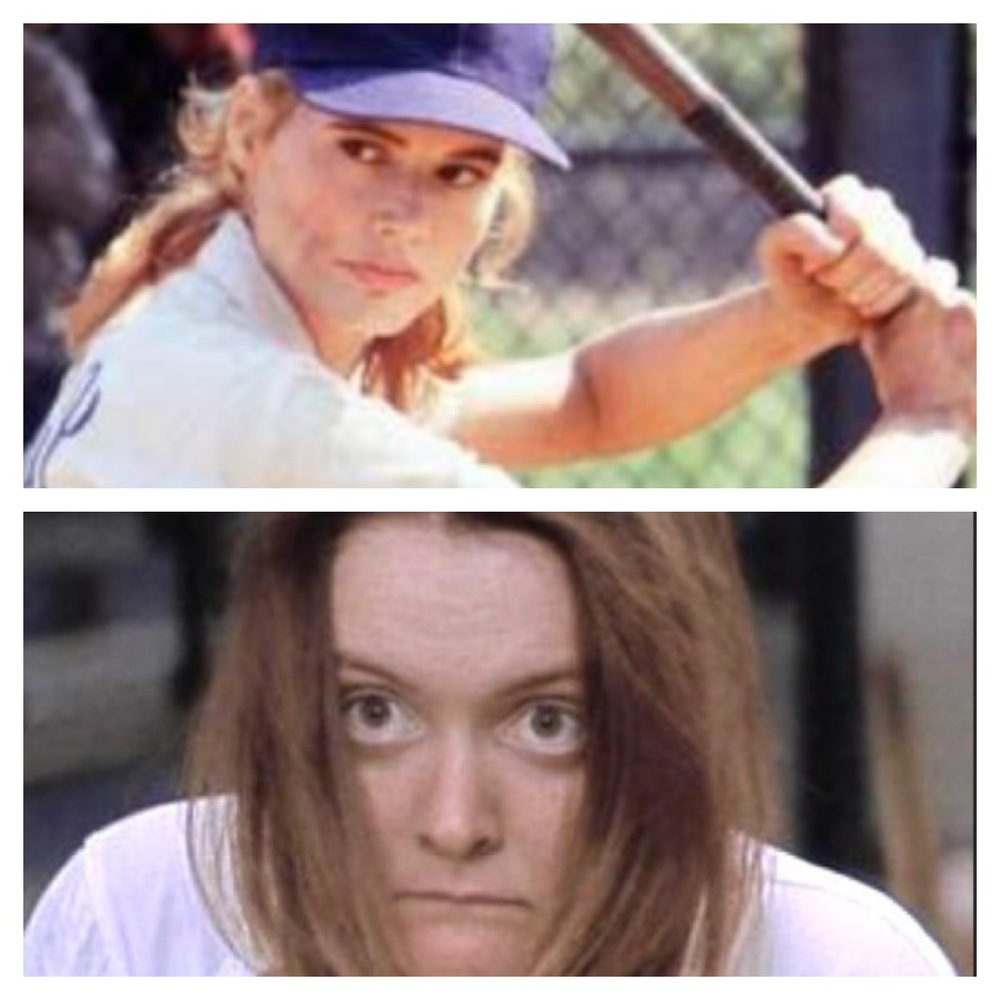Main difference between Dottie Hinson and Marla Hooch? Posture!