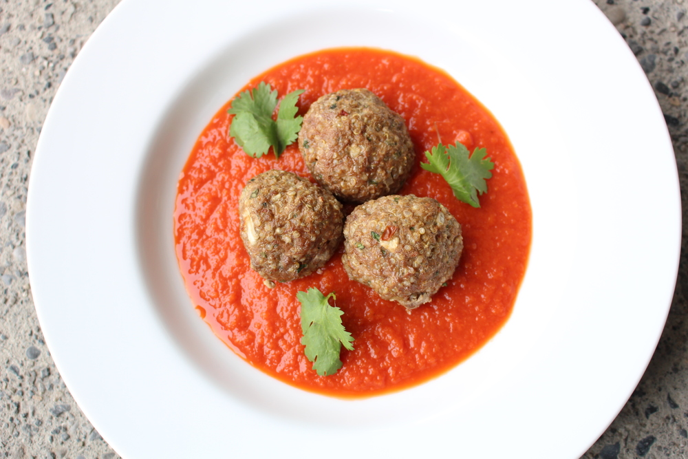 Bison & Quinoa Meatballs (housemade Tomato Sauce available too)