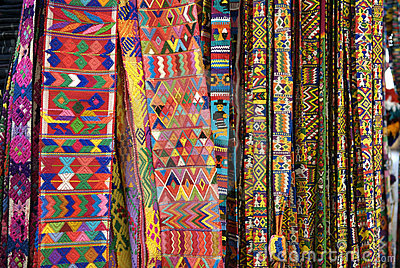 Selection of Guatemalan textiles.