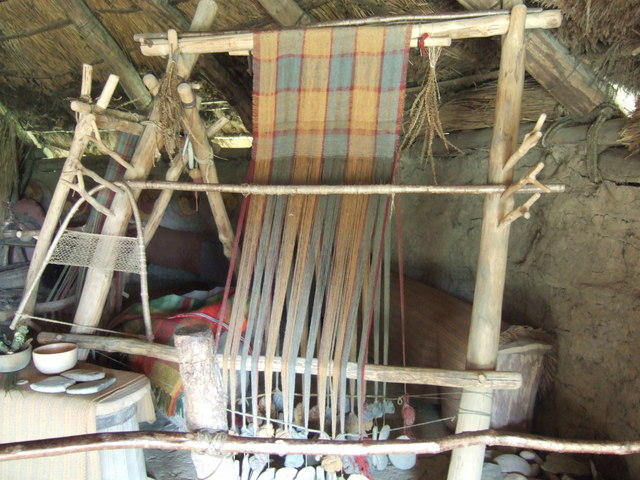 Iron Age Loom. Image from Castell Henllys.