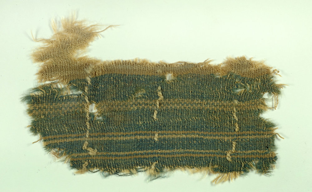 Swatch of indigo dyed wool from the Dead Sea. Bible History Daily 2014