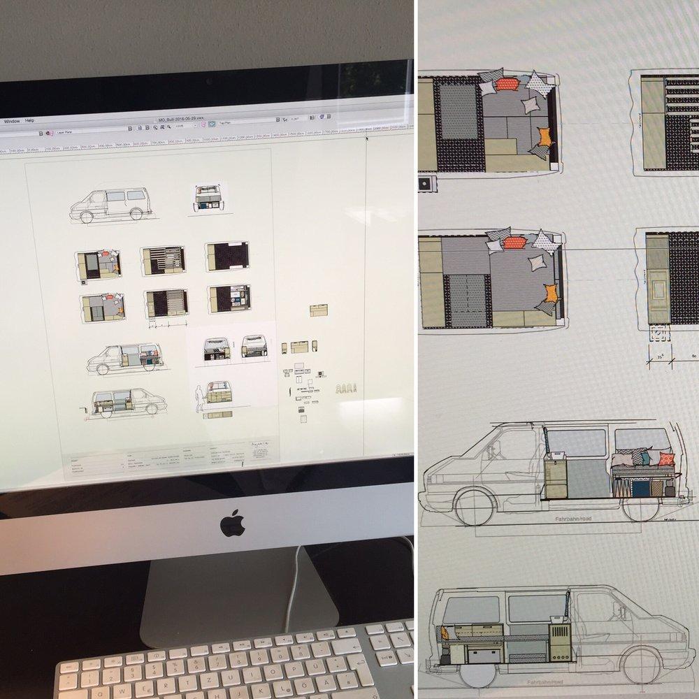 Bis ins letzte Detail wurde der Innenraum von mir vorher am Computer geplant