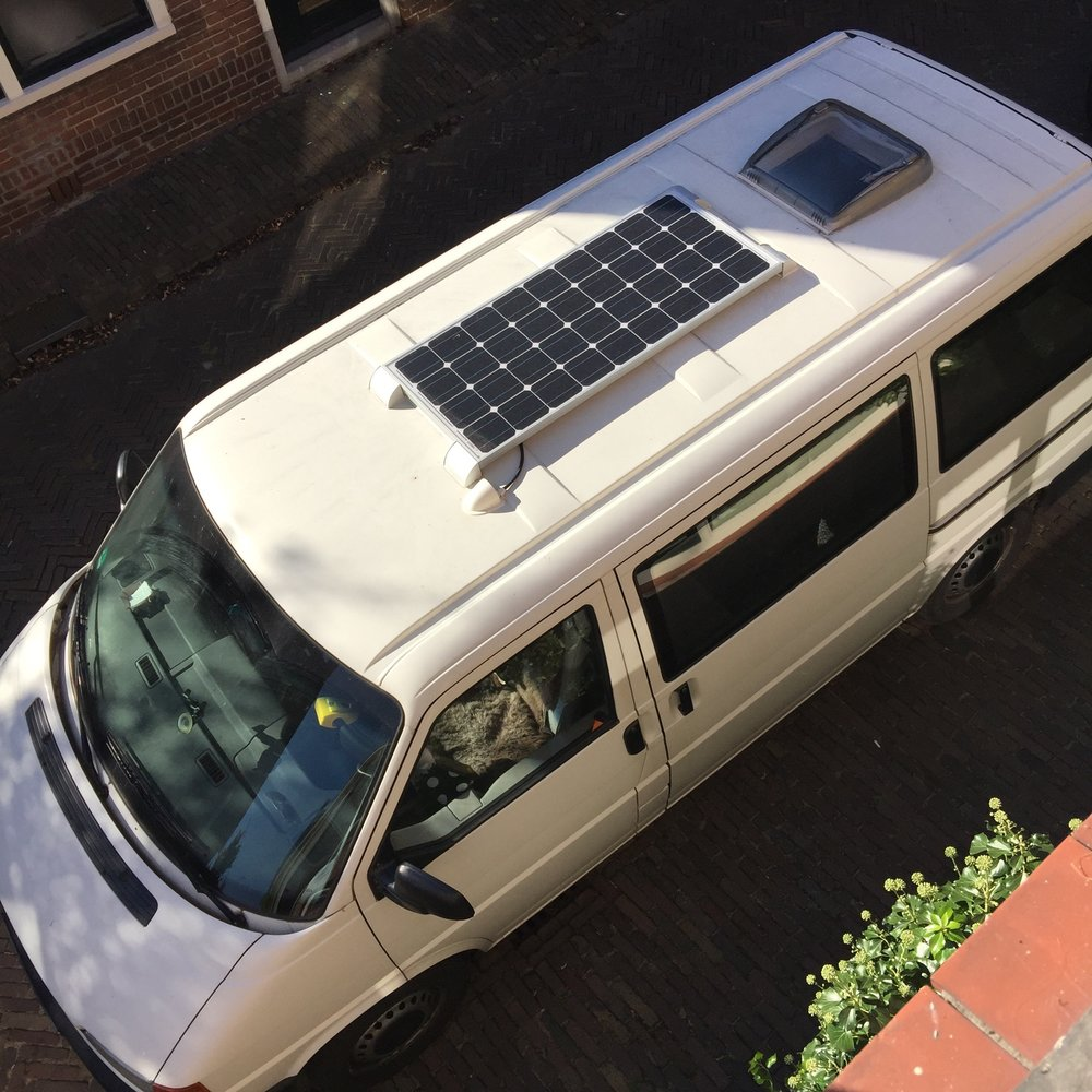 View from above: The Solar module and the new roof hatch