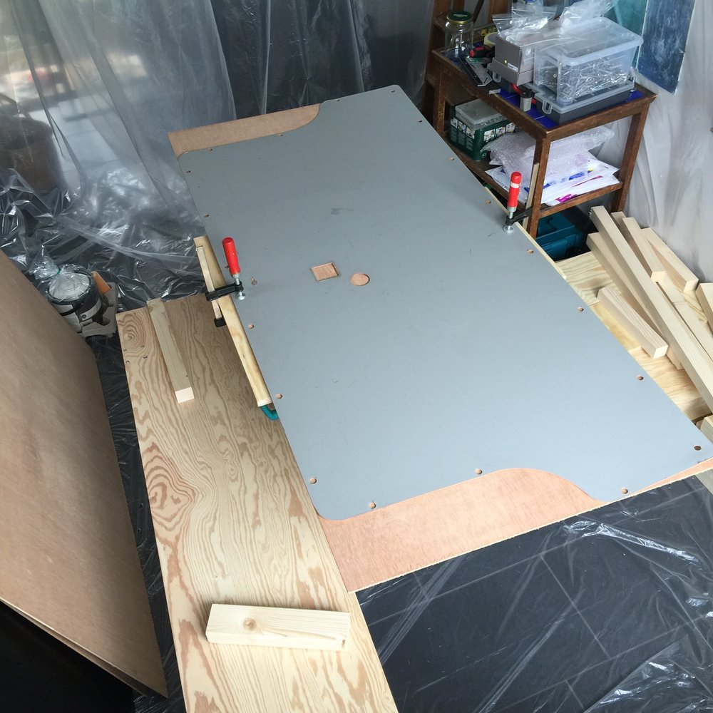 The original tailgate-cladding right before the cutting