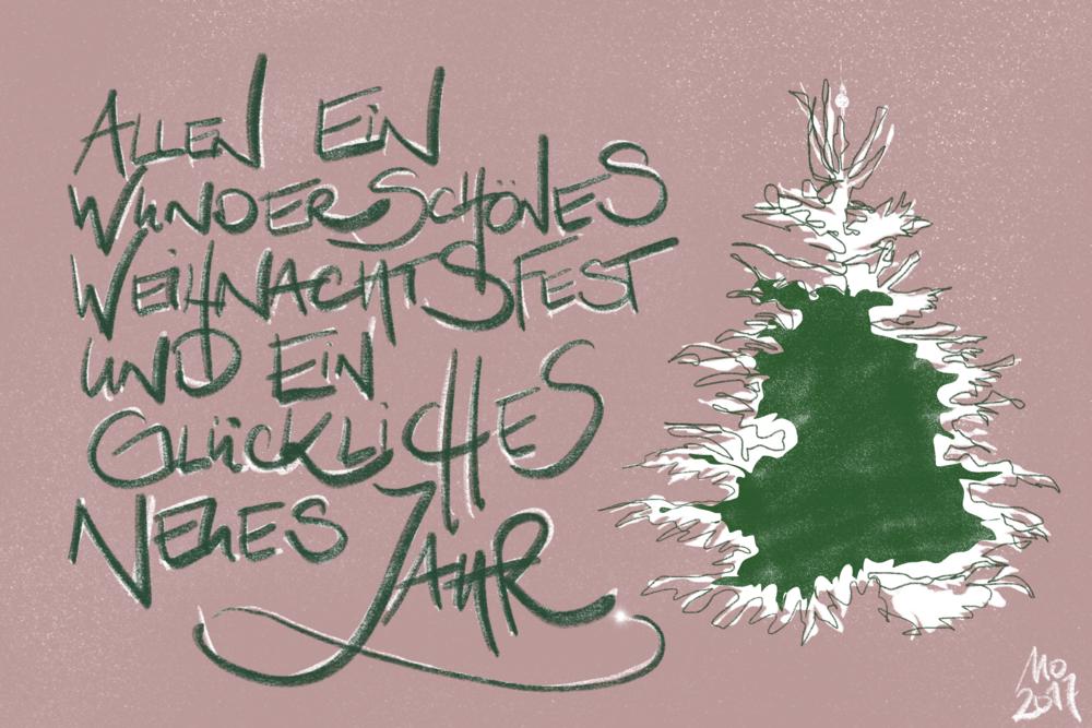 Weihnachtskarte 2017 ✶Mirjam Otto | RAUMKUNST und INNENRäUME