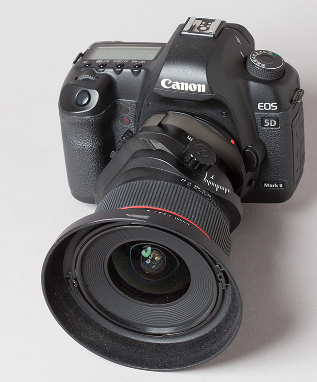 Mounted Canon PC Type Lens, Tilted