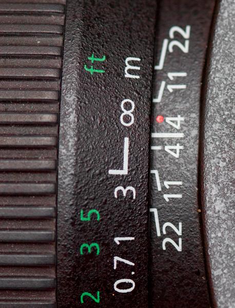 . Infrared focus indicator