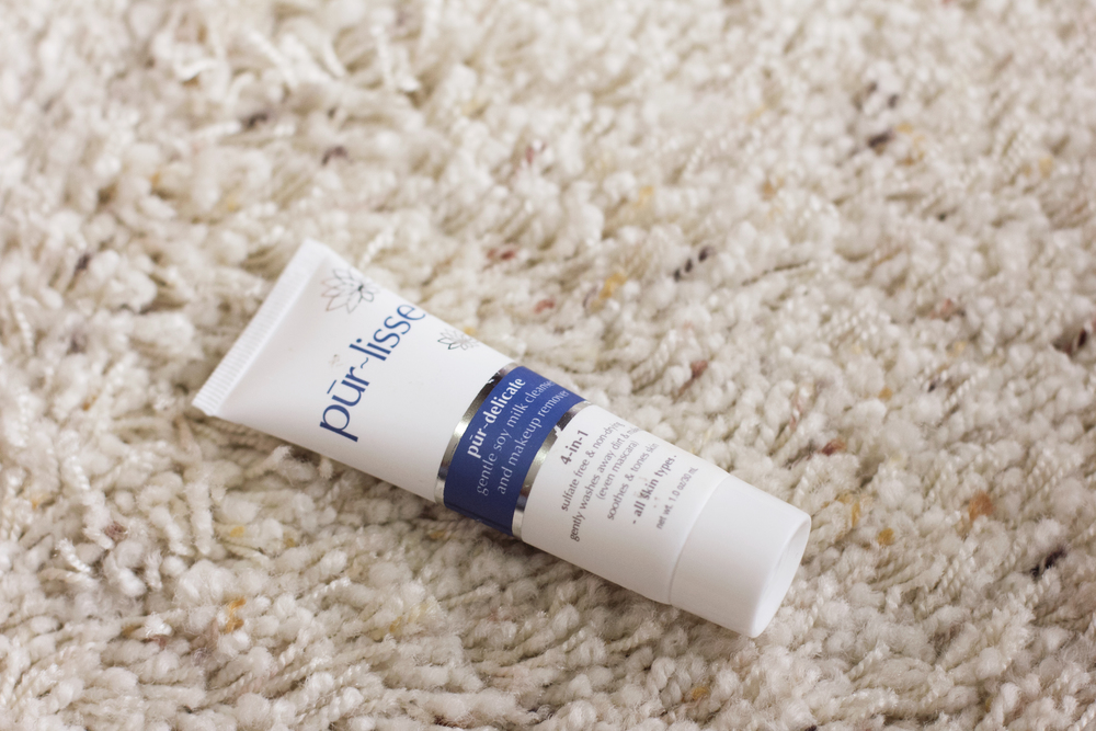 pūr~lisse beauty  pūr~delicate gentle soymilk cleanser & makeup remover