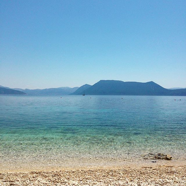 Crystal #greece #greekisland #greekholiday #meganisi #trip #travel #summer #vacation #mountains #sea #beach #cove #bay #horizon #silhouette