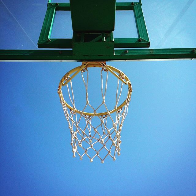 Hoop dreams #greece #greekisland #greekholiday #meganisi #trip #travel #summer #vacation #basketball #hoop #basket #net #bluesky