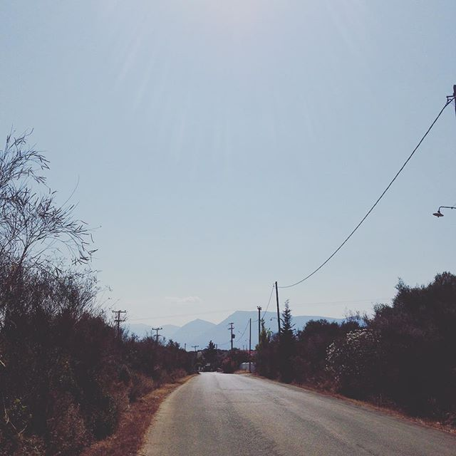 Lonely road #greece #greekisland #greekholiday #meganisi #trip #travel #summer #vacation #katomeri #road #walk #mountains