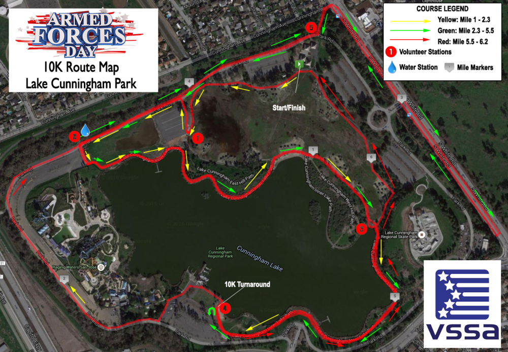 AFD 10k Route Map