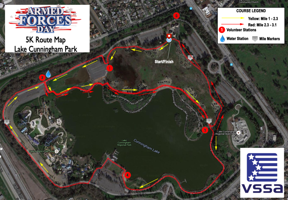 AFD 5k Route Map