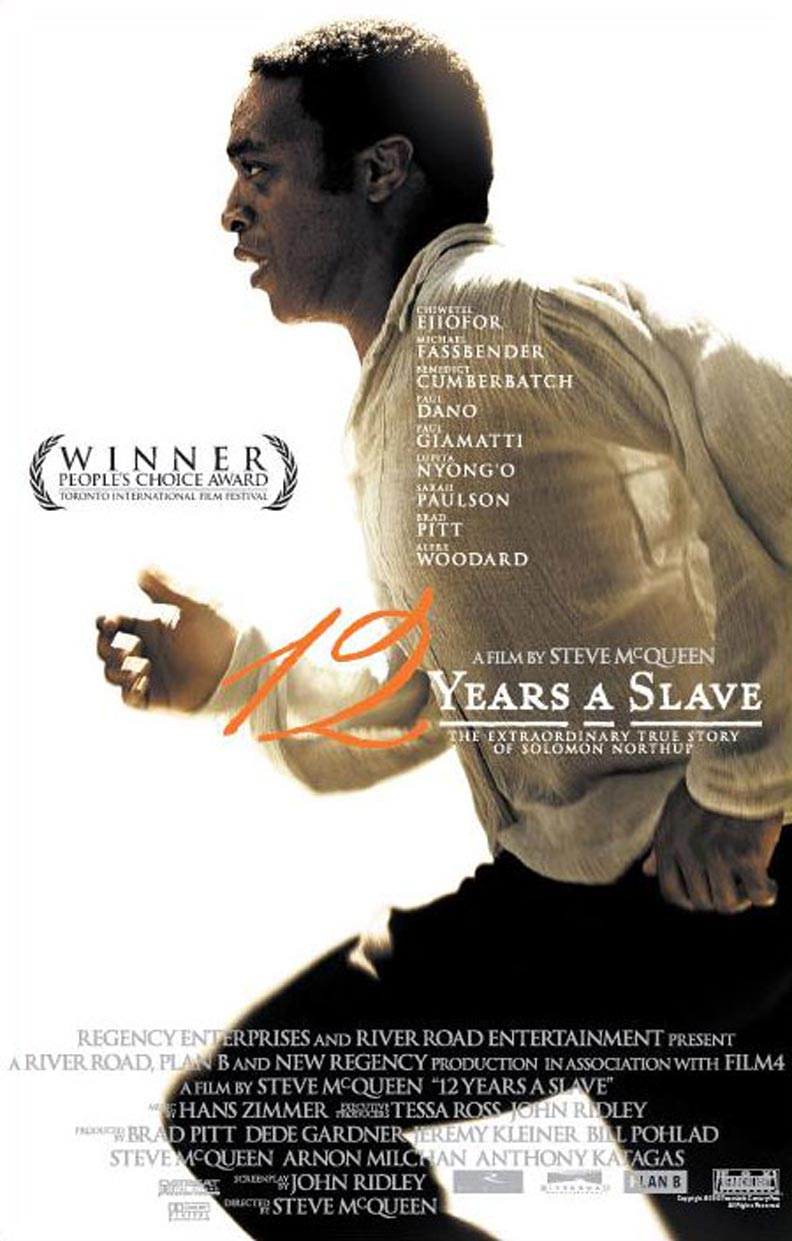 The iconic poster for '12 Years A Slave'