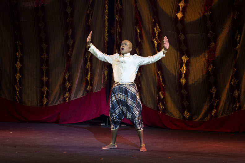Conrad as the king in First Instinct's Musical Production of the King and I