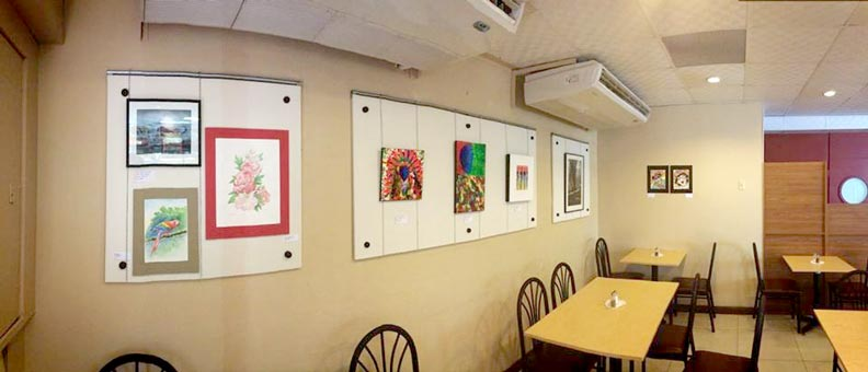 Artist's Wall at Nichossa Restaurant, Rainbow Plaza, San Fernando - latest-project.
