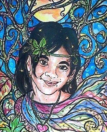 A unique gift for a young girl, have her portrait done in a magical, whimsical style.