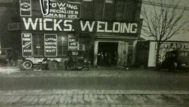 First Wicks Welding Shop in Flushing, Queens circa 1920's.