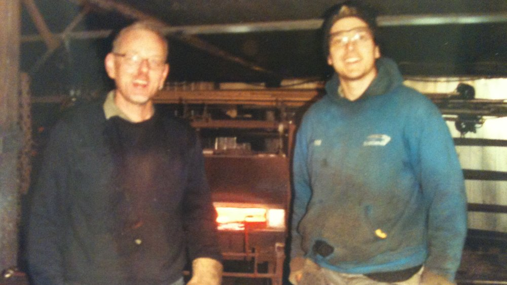 Jim Whitson, master blacksmith and Nick in Scotland.