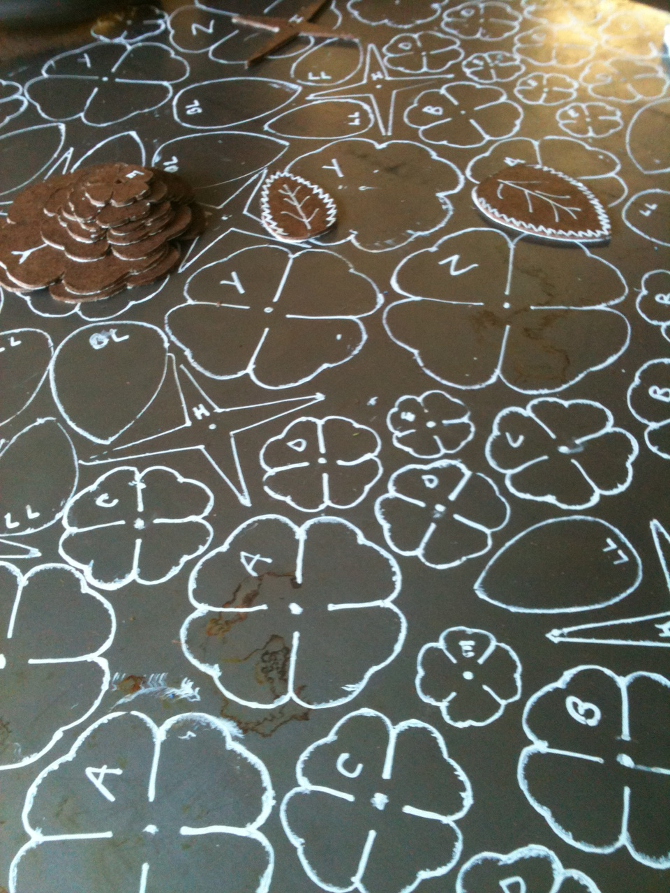 Tracing the roses out of sheet metal
