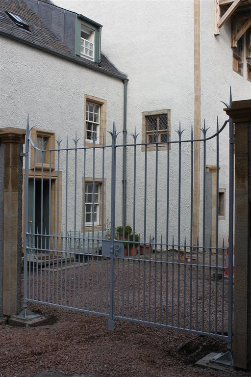 Lambs House Entrance Gates - Design by Jim Whitson, assisted with installation as apprentice in 2012