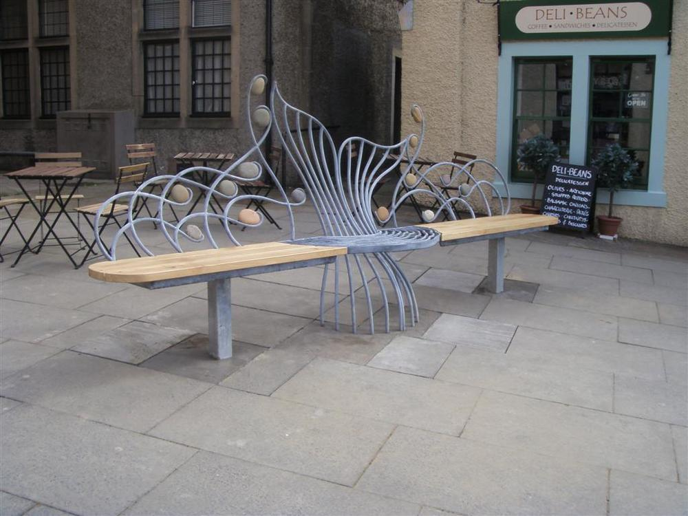 Salmon Seat - Design by Jim Whitson, assisted with fabrication as apprentice in 2012