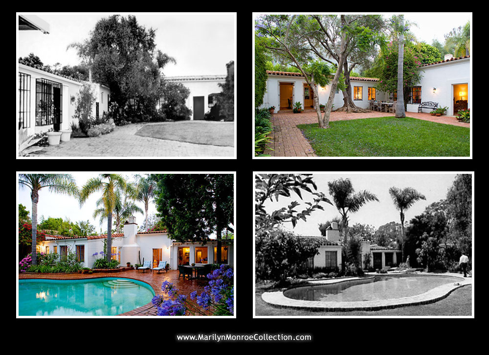 Photos of Marilyn's last home, then and now.