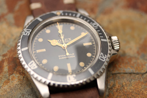 1961 Rolex Submariner 5512 Pcg W Exclamation Chapter Ring Dial