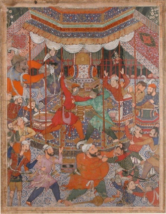 """A folio from the """"Hamzanama"""", otherwise known as the """"Adventures of Hamza"""""""
