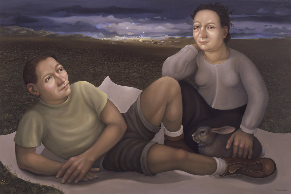 Run Rabbit, Run,   2011 oil on panel, 24 x 36 inches