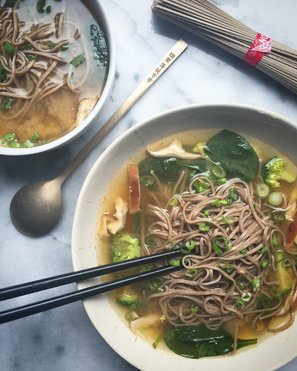 soba noodle miso soup
