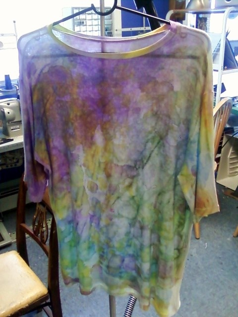 a shirt that I hand dyed