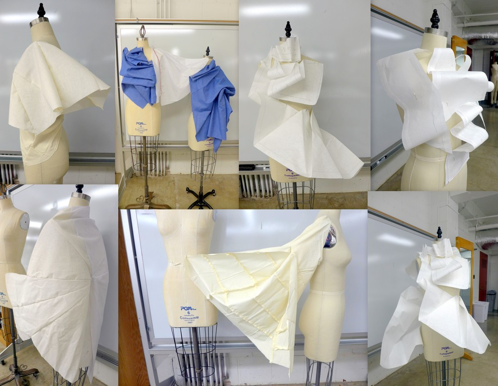 draping of sail shapes