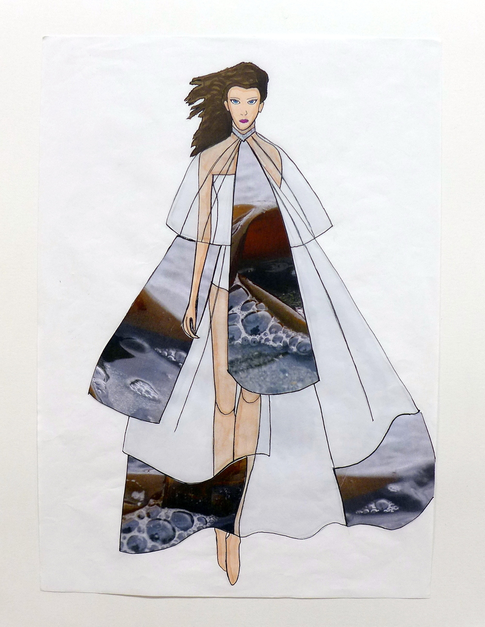 Butterfly Dress and Capelette Illustration