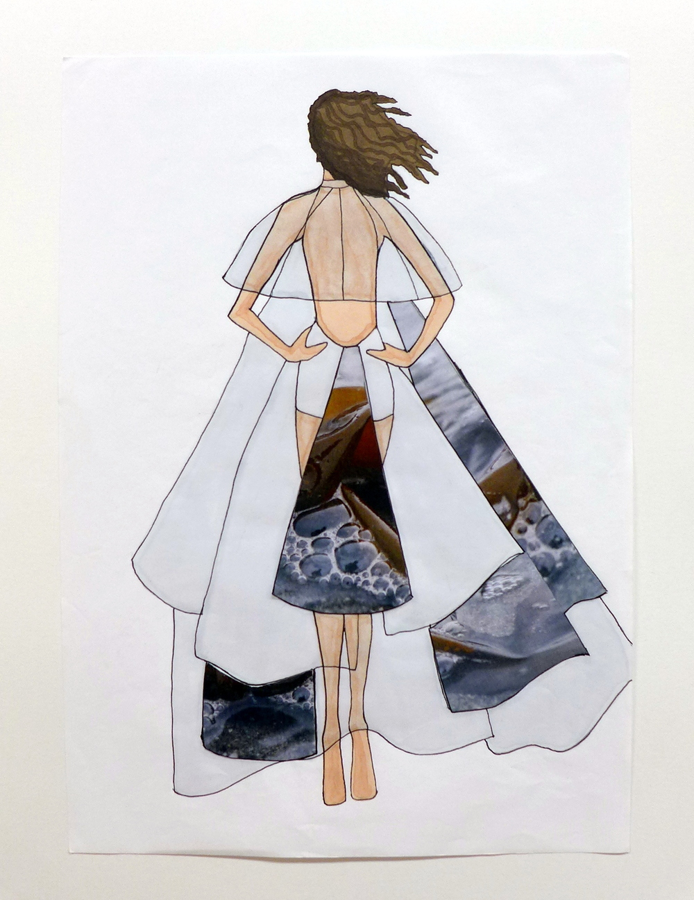 Butterfly Dress and Capelette back Illustration