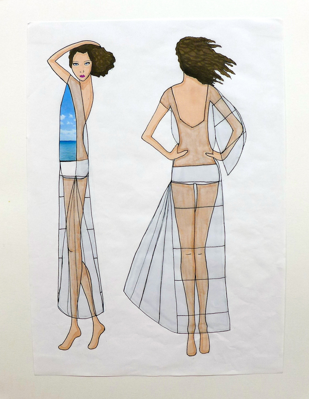 Junk Dress side and back Illustration