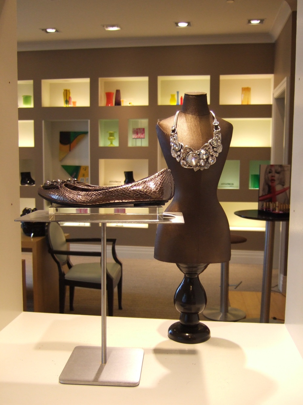 shoe and jewelry display