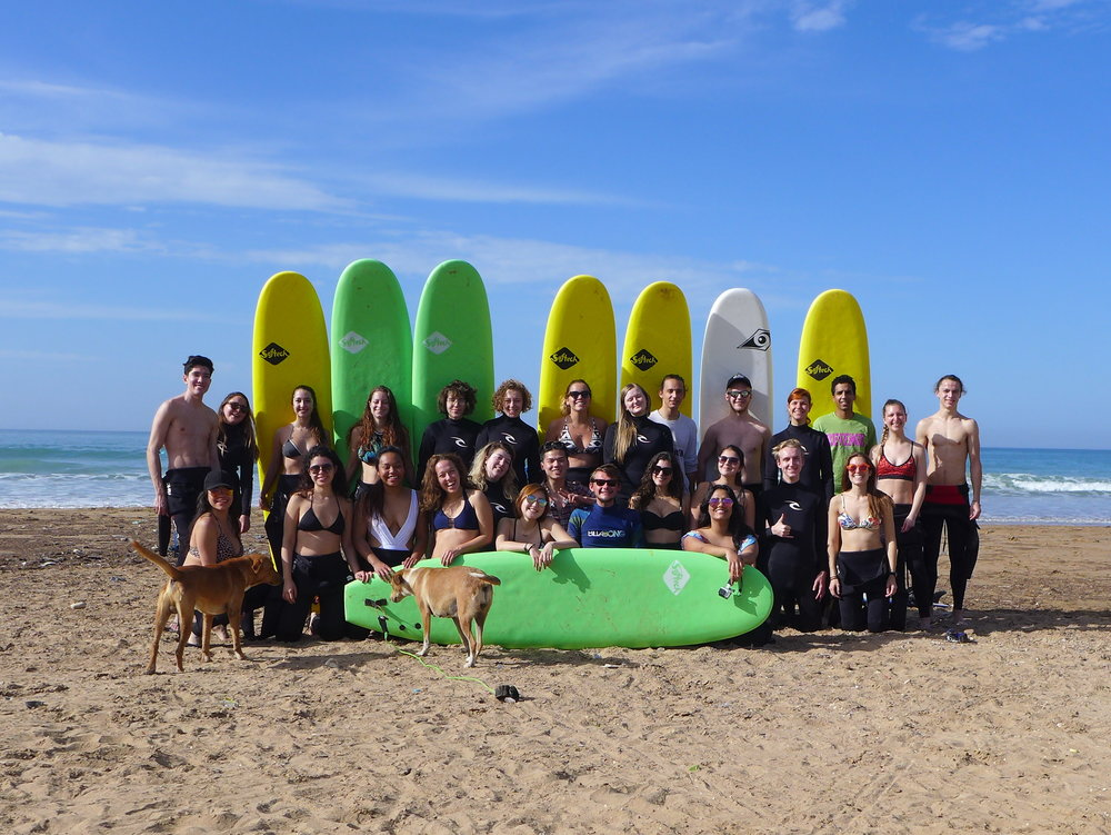 Our surf beach and group!!