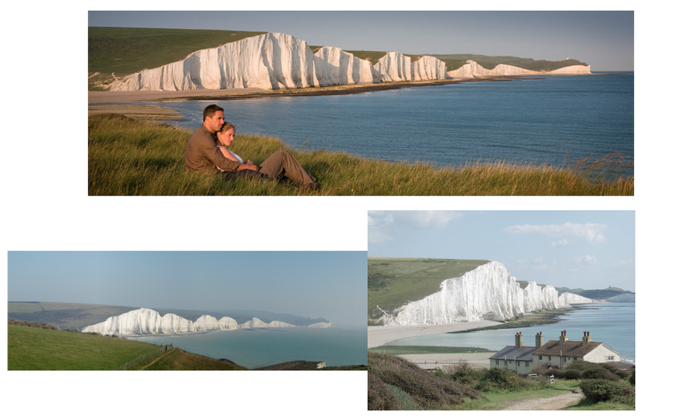 Seven Sisters bluff in Seaford, England