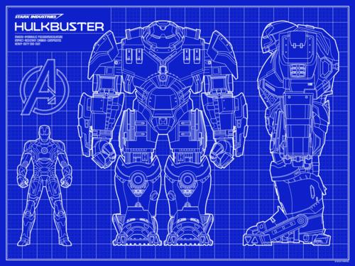 Timcab graphic design hulkbuster blueprint malvernweather Image collections