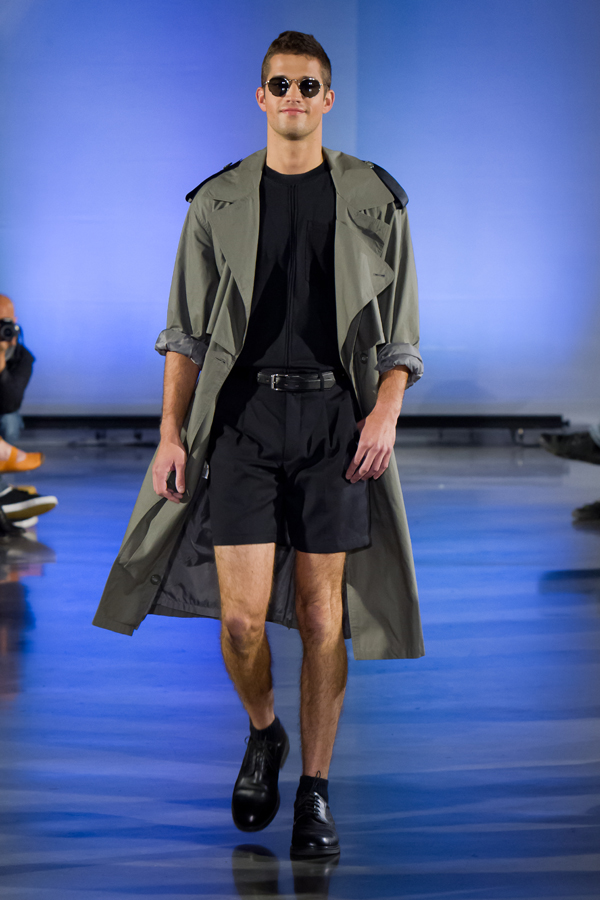 The Edward Reworked Trench & The Alphonse Pleated Shorts in Black